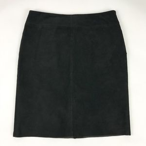 NWT Express Black Suede Pencil Skirt